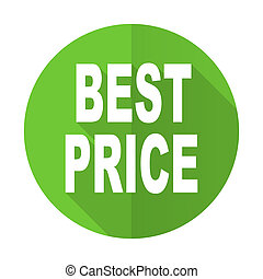 best price green flat icon