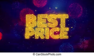 Best Price Greeting Text Sparkle Particles on Colored...