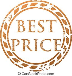 Best price grunge style vector rubber stamp.