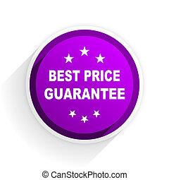 best price guarantee flat icon