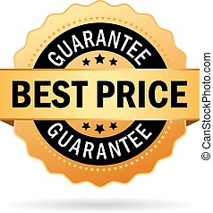 Best price guarantee icon on white background