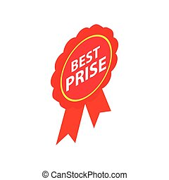 Best price guarantee label icon isometric 3d style