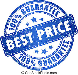 Best price guarantee, vector stamp