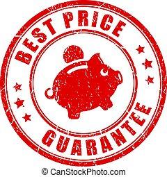 Best price guarantee vector stamp