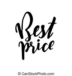 BEST PRICE - hand lettering