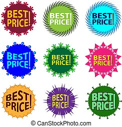 Best Price Icon Label Vector Illustration