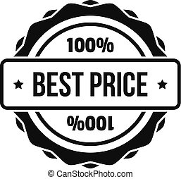Best price logo, simple style.