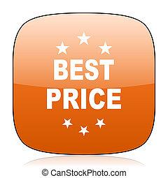 best price orange square web design glossy icon