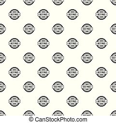 Best price pattern seamless vector