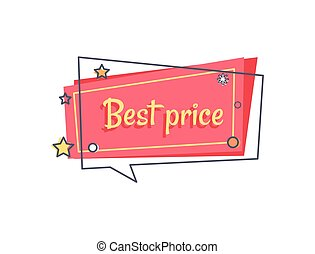 Best Price Proposal Banner in Square Speech Bubble