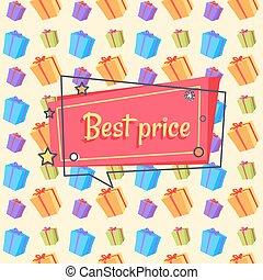 Best Price Proposal Banner Seamless Pattern Vector