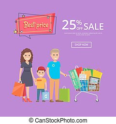 Best Price Proposition Banner with Family Shopping - Best...