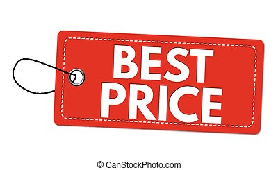 Best price red label or price tag