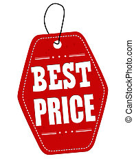 Best price red leather label or price tag