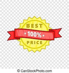 Best price rosette icon, cartoon style