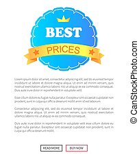 Best Price Round Label Decorated by Ribbon Stars