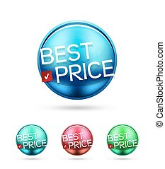 Best price round label