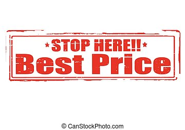 Best price - Rubber stamps with text best price inside,...