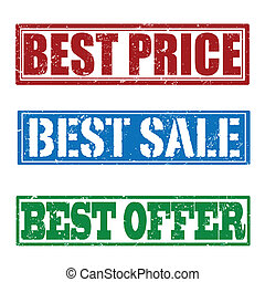 Best price, sale and offer stamps