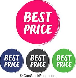 Best price. Set of grunge style on a white background
