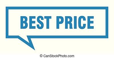 best price sign. best price square speech bubble. best price