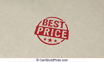 Best price stamp and stamping animation