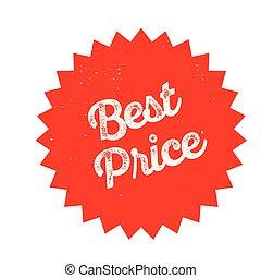 best price stamp on white