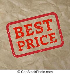 Best Price Stamp Sign Cardboard