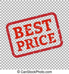 Best Price Stamp Sign Transparent Background