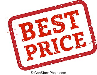 Best Price Stamp Sign White Background