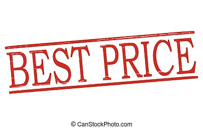 Best price - Stamp with text best price inside, vector...