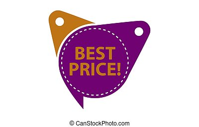 Best Price Tag Template Isolated