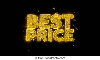 Best Price Typography Written with Golden Particles Sparks...