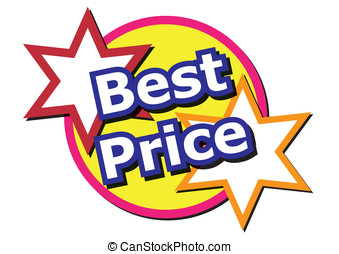 Best Price words with some stars