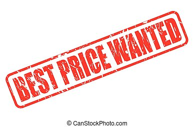 BEST PRICE WANTED RED STAMP TEXT