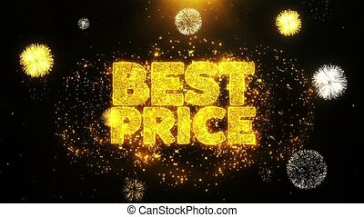 Best Price Wishes Greetings card, Invitation, Celebration Firework Looped