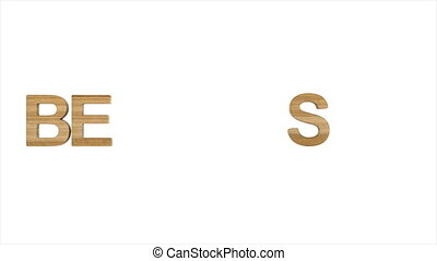best price. wooden text on white background. Isolated 3D...