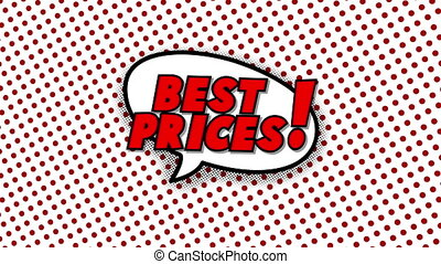 Best prices text in speech balloon in comic style animation,...