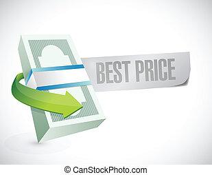 best prise business cash sign illustration