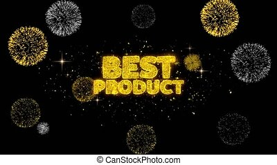 Best Product Golden Text Blinking Particles with Golden...
