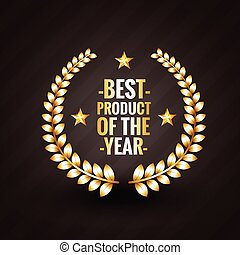 best product of the year 2015 winner badge label design...