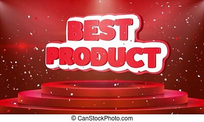 Best Product Text Animation Stage Podium Confetti Loop Animation