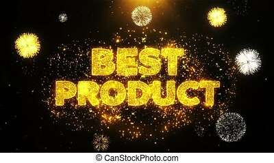 Best Product Text on Firework Display Explosion Particles.
