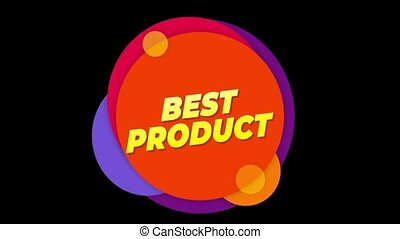 Best Product Text Sticker Colorful Sale Popup Animation.