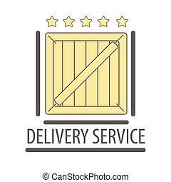Best quality delivery logo isolated on white. Five stars rate