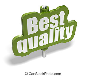 best quality green marker over a white background with...
