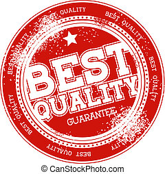 best quality grunge stamp vector