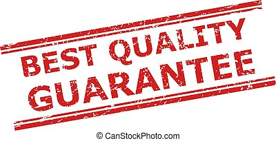 BEST QUALITY GUARANTEE Stamp with Corroded Surface and Double Parallel Lines