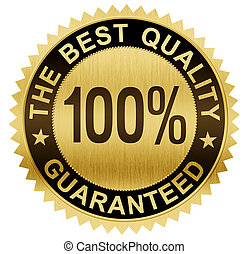 best quality guaranteed gold seal medal with clipping path...