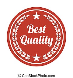 Best quality label on white background.